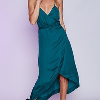 OneTeaspoon San Cerena Wrap Dress Emerald