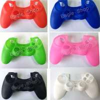 High Quality 11 Colors Gel Rubber for PS4 Silicone Case For PS4 Controller Joystick Protective Cover