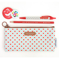 Rollercoaster Catch the moment mint flower pencil case