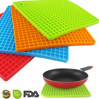 7-inch Silicone Pot Holder Trivet Mat jar Opener spoon Rest Non Slip Flexible Durable Heat Resistant Hot Pads