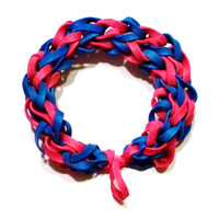 New England Patriots Sports Bracelet - Red and Blue Rubber Bands - NFL, MLB Boston Red Sox