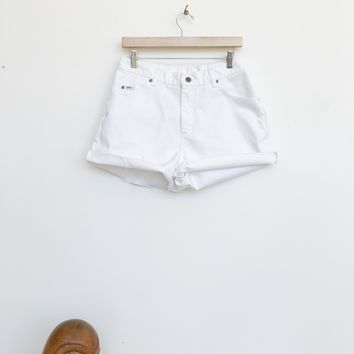 Vintage White Lee Cutoffs