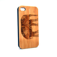 Real Wood iPhone 6 Case, Cute Elephant iPhone 6 Case, Wood iPhone 6 PLUS Case, Wood iPhone 5s Case