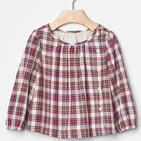 Gap Baby Asymmetrical Plaid Top