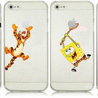 Cartoon Spongebob Mickey Mouse Minion Tigger Snow White Ariel Case iPhone 4 5 5C