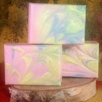 Wild Honeysuckle Homemade Moisturizing Natural Soap - Floral Soap - Gift for Her