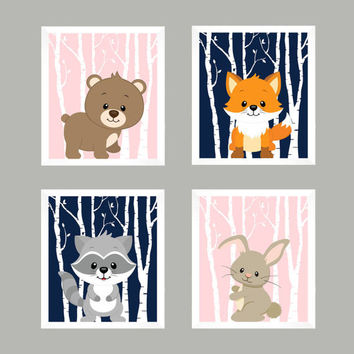 Baby Print, Nursery Decor, Baby Decor, Wall Art, Wall Decor, Woodland Nursery, Forest Animals, Nursery Print, Animal Print, Woodland Animals