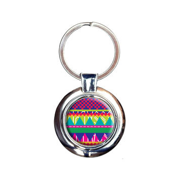 Southwestern Hipster Colorful Pattern Keychain