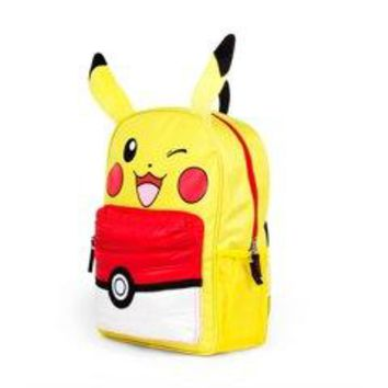 """Pokemon Pikachu 16"""" Kids Licensed Backpack with Puffed PocketPokemon Pikachu 16"""" Kids Licensed Backpack with Puffed Pocket"""