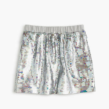 crewcuts Girls Sequin Pull-On Skirt