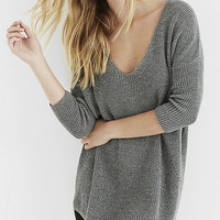 Metallic Express London Tunic Sweater from EXPRESS