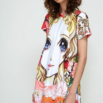 Totokaelo Graphic Print Short Sleeve Dress - Comme des Garcons - Designers - Womens