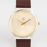 ASOS Watch With Gold Case And Brown Strap at asos.com