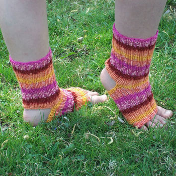 Yoga Socks knit Multi Colored