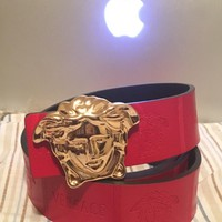 100% authentic genuine Versace belt with Gold Face