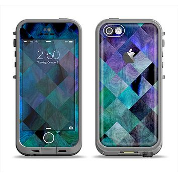 The Multicolored Tile-Swirled Pattern Apple iPhone 5c LifeProof Fre Case Skin Set
