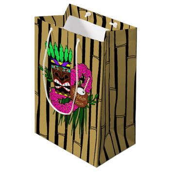 Hawaiian Luau Party Medium Gift Bag