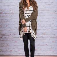 Can't Stop This Feeling Cardigan, Light Olive