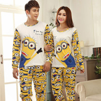 Despicable Me Minion Minions Pijamas Adult Pyjamas Women Pajamas Set Onesuit Sleepwear Bathrobe Kigurumi Mujer Feminino kigurumi