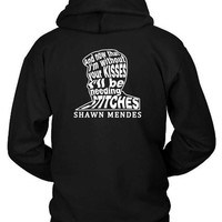 MDIG1GW Shawn Mendes Stitches Lyrics On Face Of Shawn Mendes Hoodie Two Sided