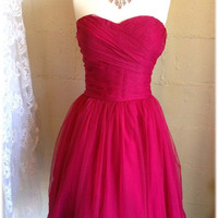 hot Pink party dress, prom dress, formal dress, bridesmaid dress, fuchsia dress, celebrity dress, Raspberry dress