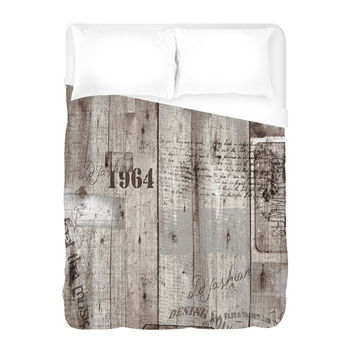 Aged Wood Printing Duvet Cover