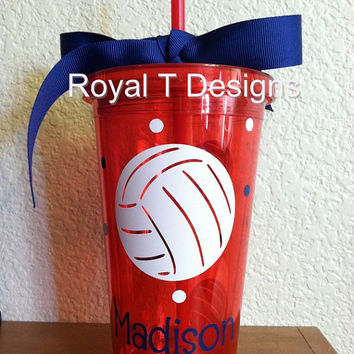 16oz Personalized Volleyball Tumbler