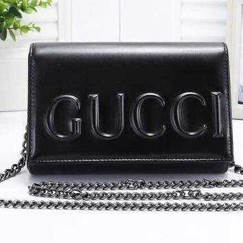 Gucci High Quality Fashion Women Shopping Chain Bag Shoulder Bag Black