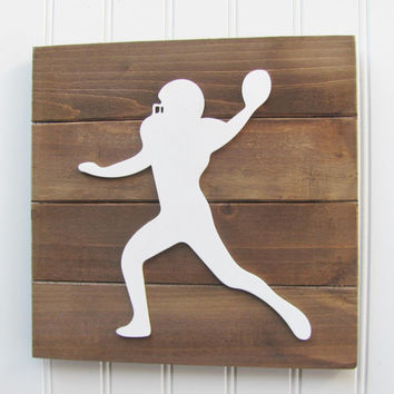 Football, Boys Room Decor, Football Letters, Nursery Decor, Football Decor, Sports Letters, Boys Room, Wall Art, Pallet Board, Sports Room