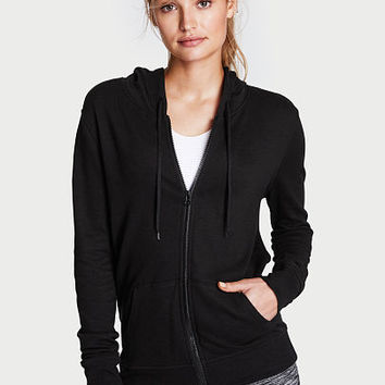 Lightweight Fleece Zip Hoodie - Victoria's Secret