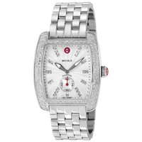 Michele Urban Silver Dial Diamond Stainless Steel Ladies Watch MWW02T000001