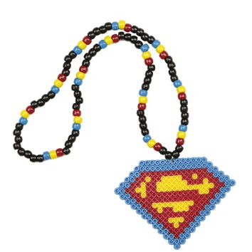 Superman Kandi Necklace