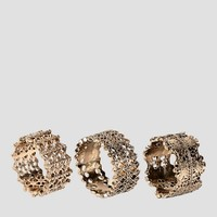 Glamorous Multipack Filigree Rings at asos.com