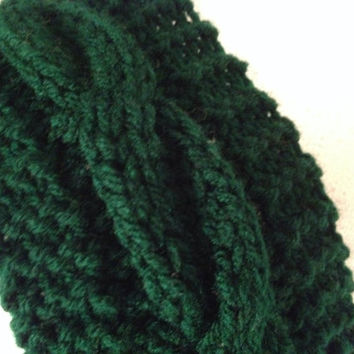 Cabled Ear warmer for Man Hand Knit Braided Headband for Him Wide