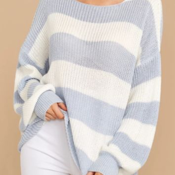 Explosive sweater women's autumn and winter new striped round neck large size sweater