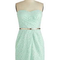 ModCloth Strapless Shift Crowd Standout Dress