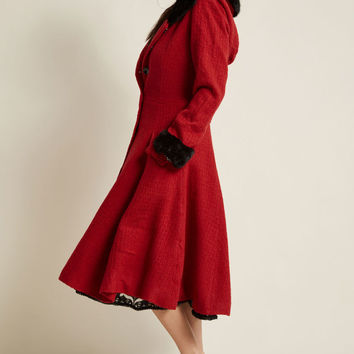 Collectif Winsome Warmth Fit and Flare Coat