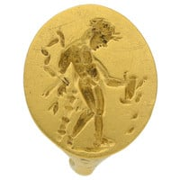 Museum quality Ancient Greek gold ring with Apollo, circa 4th century BC.