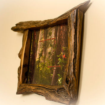 8x10 Canadian Handcrafted Willow Wood Picture Frame