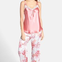 Women's Oscar de la Renta 'Night Blooms' Pants Pajamas,