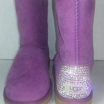 Bailey Bow UGGs, Custom Bailey Bow Uggs, Pink Bailey Bow Uggs, Swarovski Uggs, Crystal