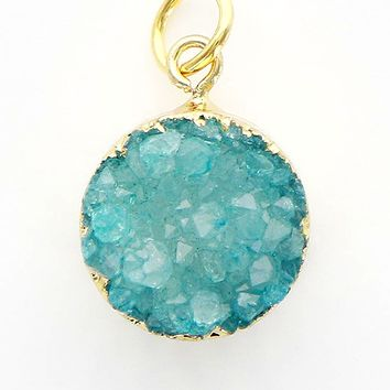 Druzy Gold Accent Charms
