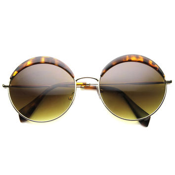 WILLOWS OVERSIZED ROUND FRAME SUNGLASSES
