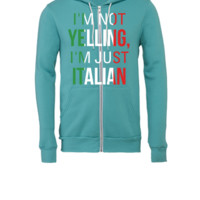 I'm Not Yelling I'm Just Italian - Unisex Full-Zip Hooded Sweatshirt