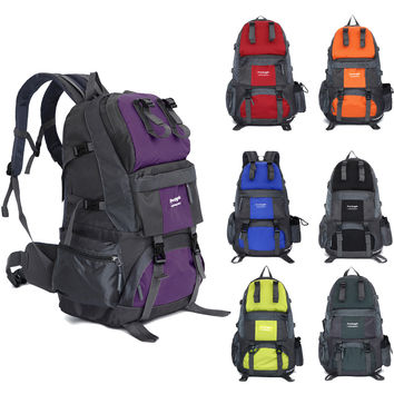 High Quality 50L Waterproof Outdoor Bicycle Sports Backpack Hiking Bag For Camping Traveling  Mountaineering Hiking KSKS
