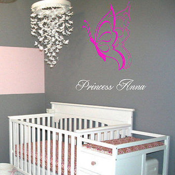 Princess Name Wall Personalized Girl Room Decor Wall Sticker Art Unique nm331
