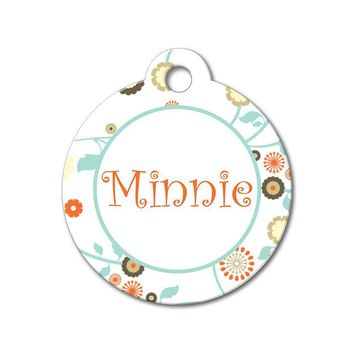 Whimsical Flowers - Pattern Pet Tags