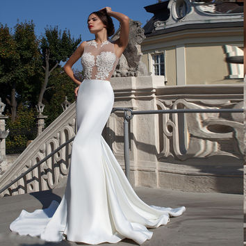 Elegant White Mermaid Floor Length Prom Dresses