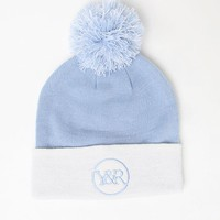 Young & Reckless Trademark Loop Pom Beanie - Womens Hat - Blue - One