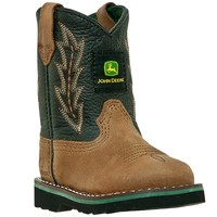 John Deere - Johnny Popper Infant Boot - Tan and Black